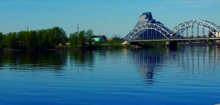 La rivière Daugava dans le golf de Riga