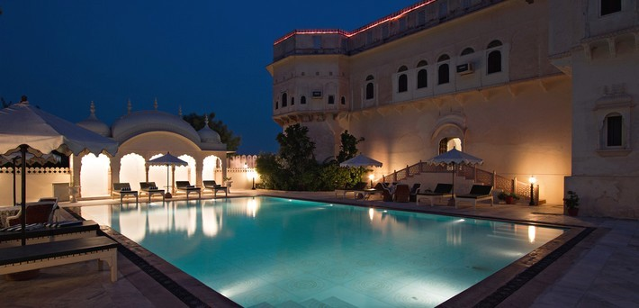 Le palais Alsisar Mahal.