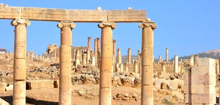 Cité de Jerash en Jordanie