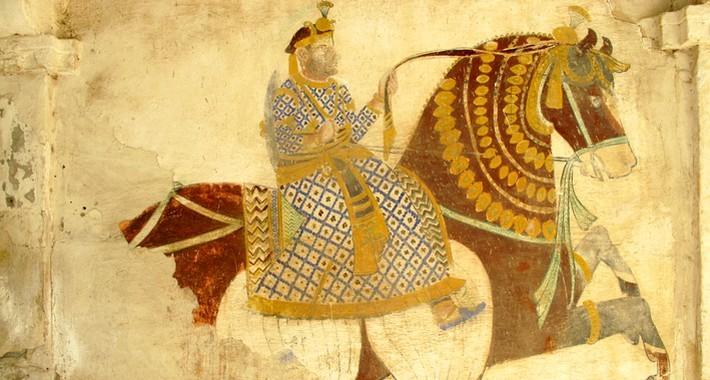 Fresque murale d'un Havelis