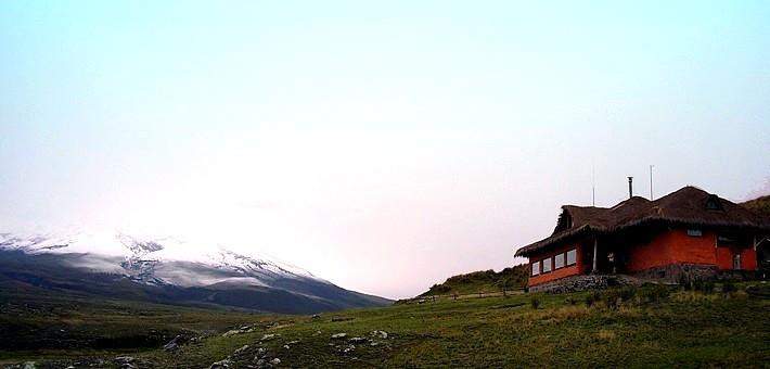 Hacienda dans les Andes