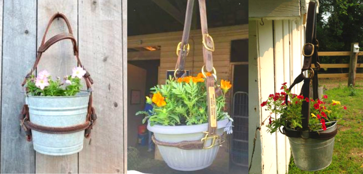 Un porte pot de fleur licol