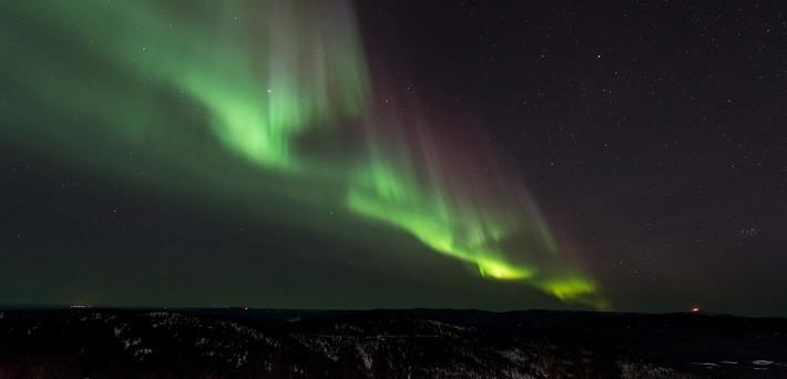 Les aurores boréales en Suède