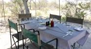 Les repas au campement mobile Kalahari
