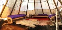 L'intérieur des tepees