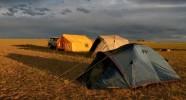 Campement bivouac en Mongolie