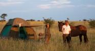 Tente au campement mobile Kalahari
