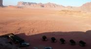 Campement dans le désert du Wadi Rum en Jordanie