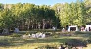 Randonnée équestre aux Etats-Unis - Bivouac