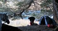 Bivouac des randonnées équestres en Argentine