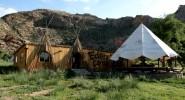 Camp de tipis en Mongolie