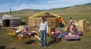 Yourte d'hôte en Mongolie
