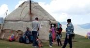 Yourte chez les familles nomades