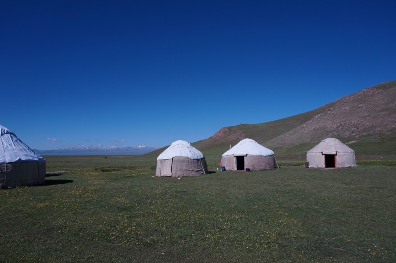 Nuitée avec les Kirghizes sous la yourte