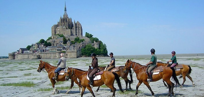Week-end sportif à cheval au Mont Saint Michel - Normandie