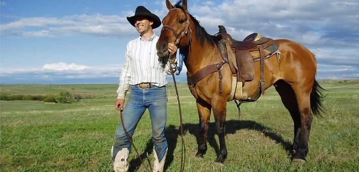 photo cheval cowboy